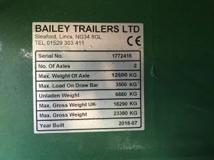2018 16 ton Bailey Trailer 7