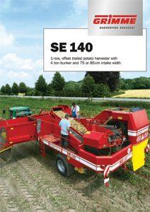 Trailed Harvester SE 140 1 Row